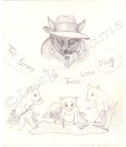 3 little pigs by a french illustrator - image 3 - student project