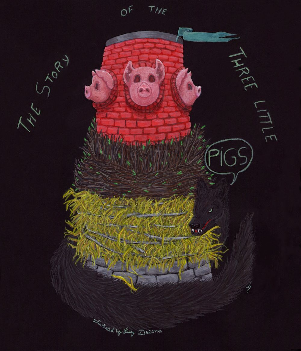 3 little pigs by a french illustrator - image 1 - student project