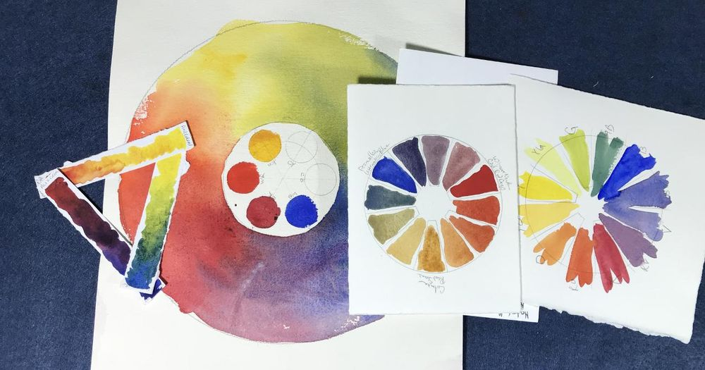 Color Wheels created from your Color Mix Strips - image 1 - student project