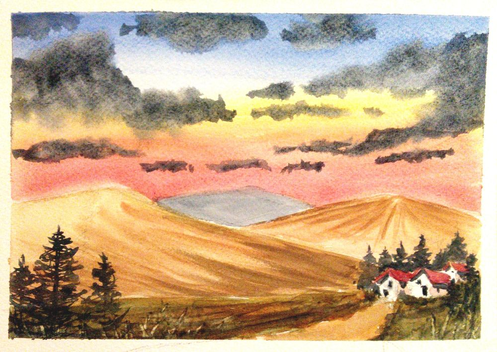 Easy Watercolor Landscape - image 1 - student project