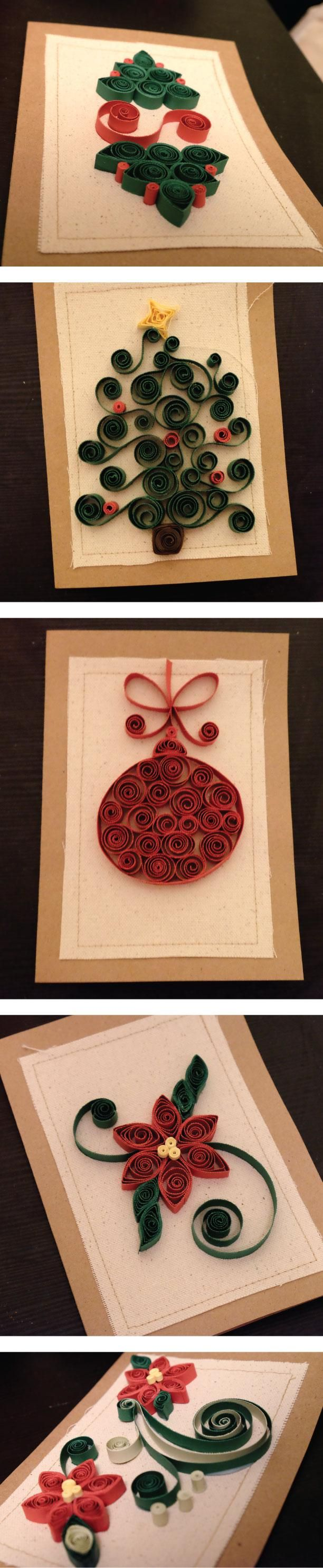 Quilled Christmas cards - image 1 - student project