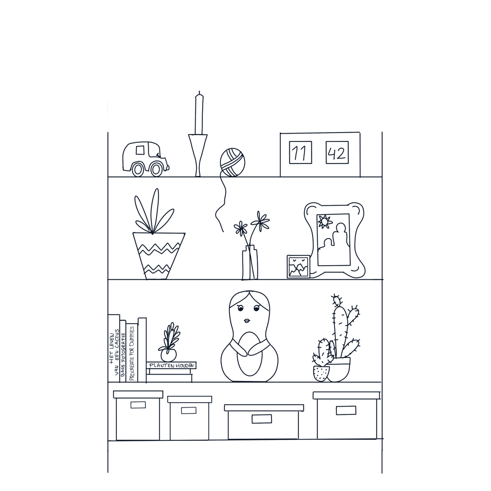 Bookshelf exercise - image 1 - student project