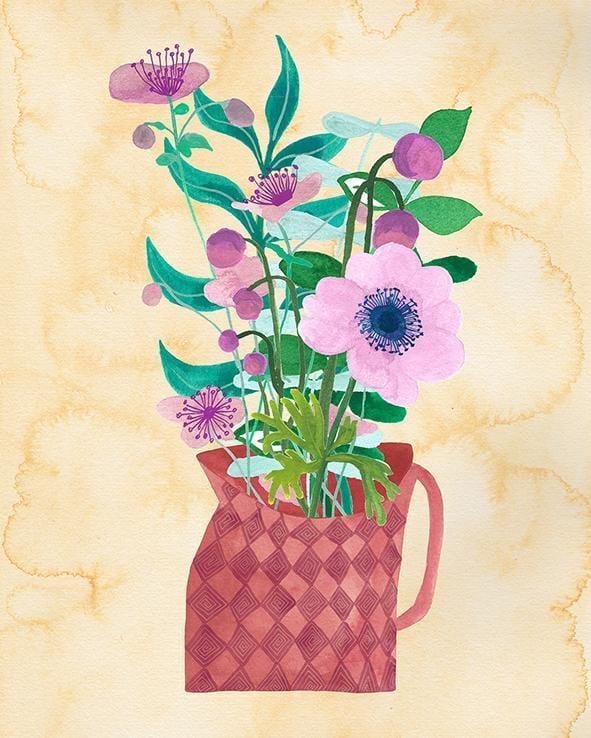 Vase with Floral Arrangement - image 1 - student project