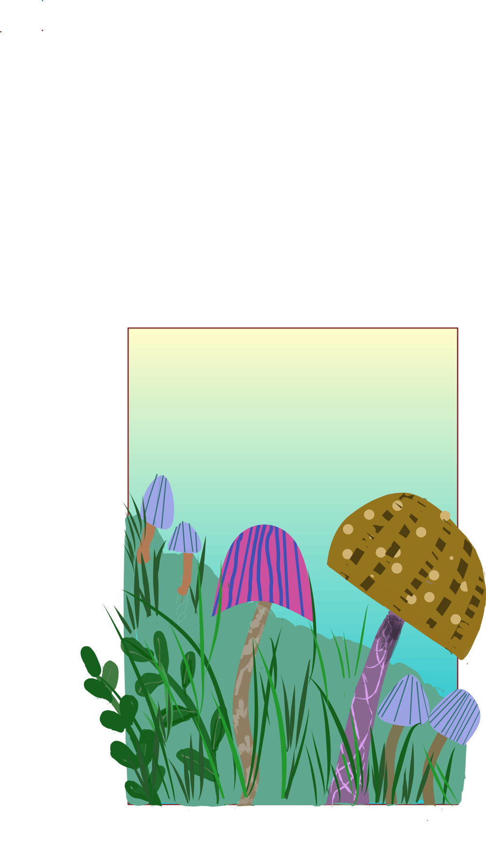 Mushrooms - 3 different ways (watercolor, pixel, vector) - image 3 - student project