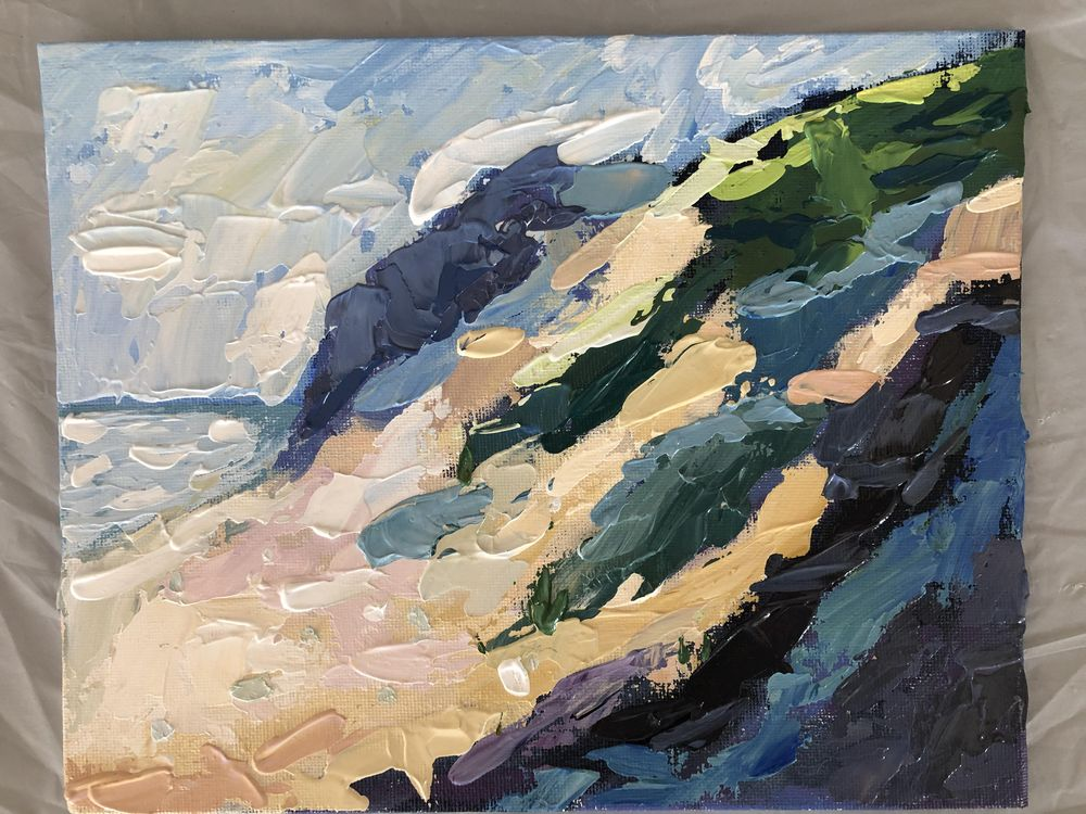 Dunes with Painting Knife - image 1 - student project