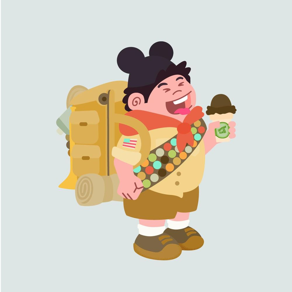Russel eating Ice-cream - image 4 - student project