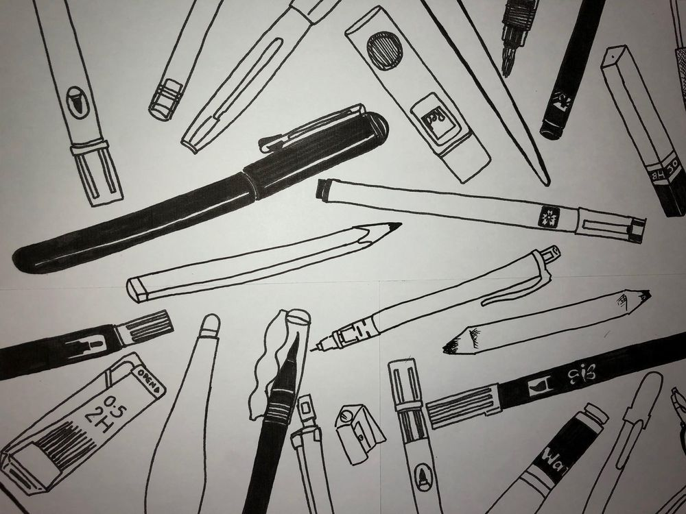 My Favourite Things: Stationery Pattern - image 2 - student project