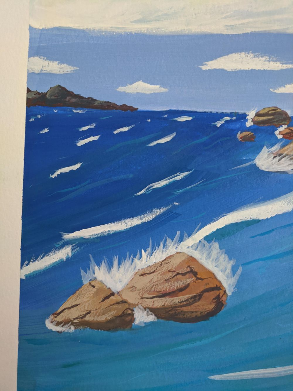 Rocky Beach - Gouache - image 1 - student project