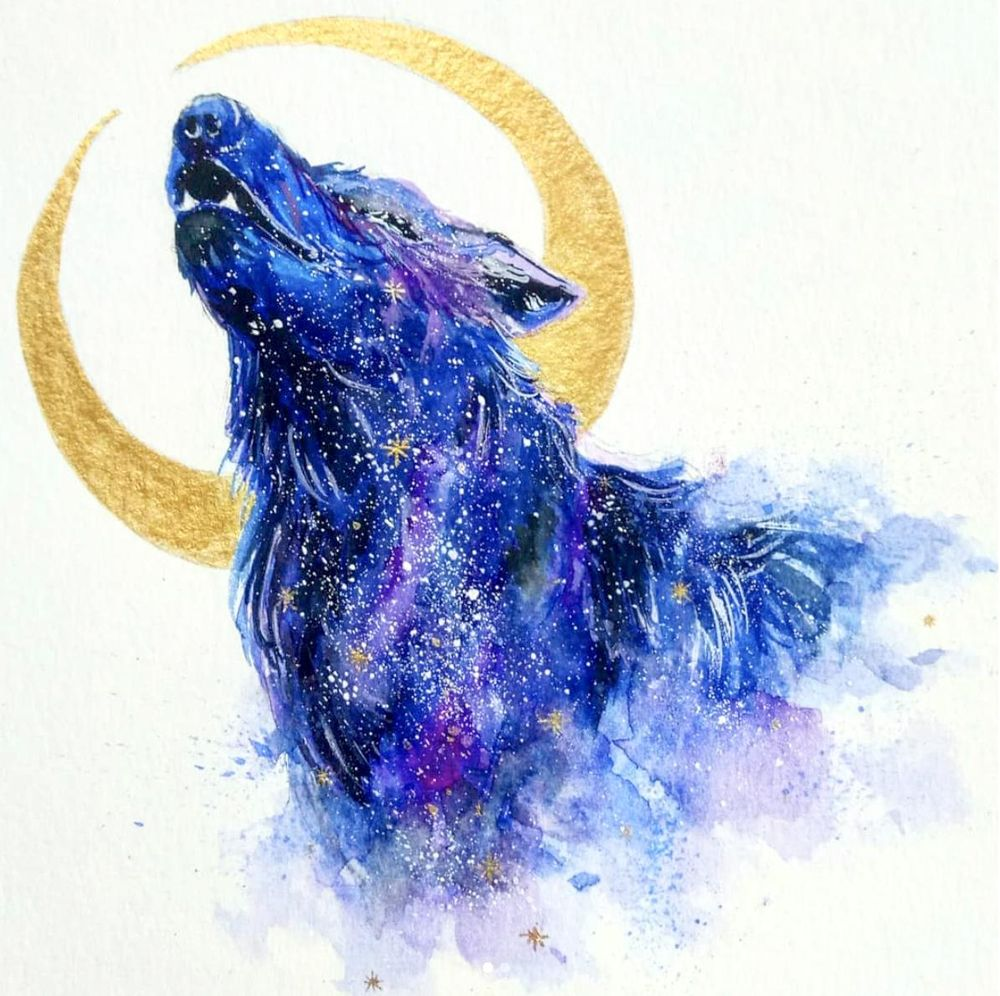 Galaxy Animal Painting With Watercolor and Gouache - image 3 - student project