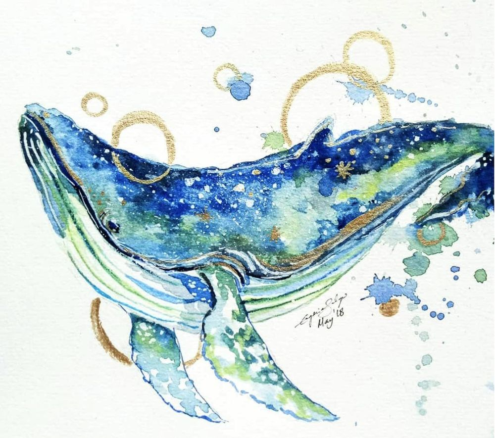 Galaxy Animal Painting With Watercolor and Gouache - image 2 - student project