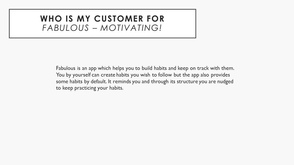 """Persona project of the app """"Fabulous - Motivating!"""" - image 2 - student project"""
