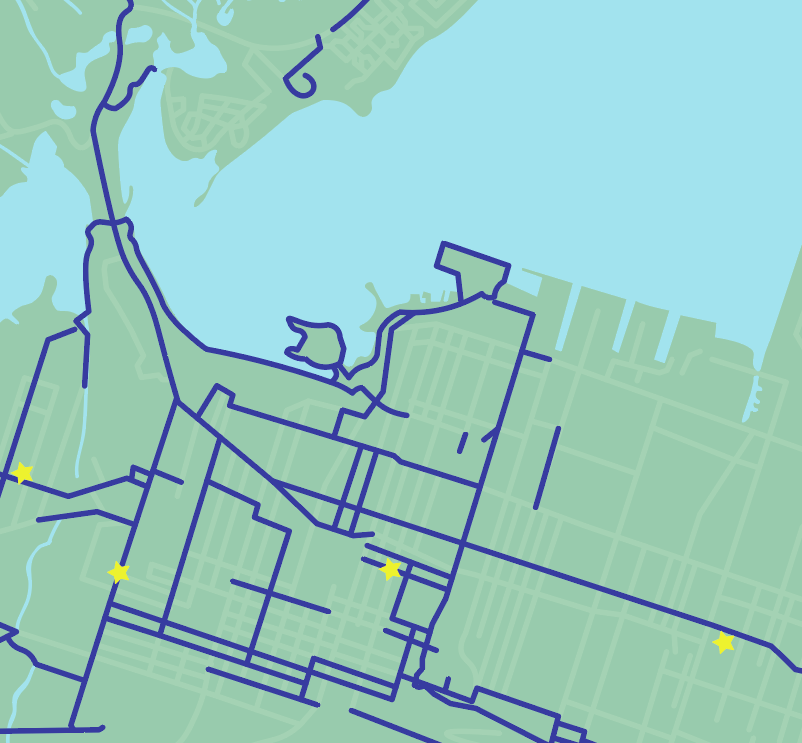 A bicycle map for a city I used to live in - image 1 - student project