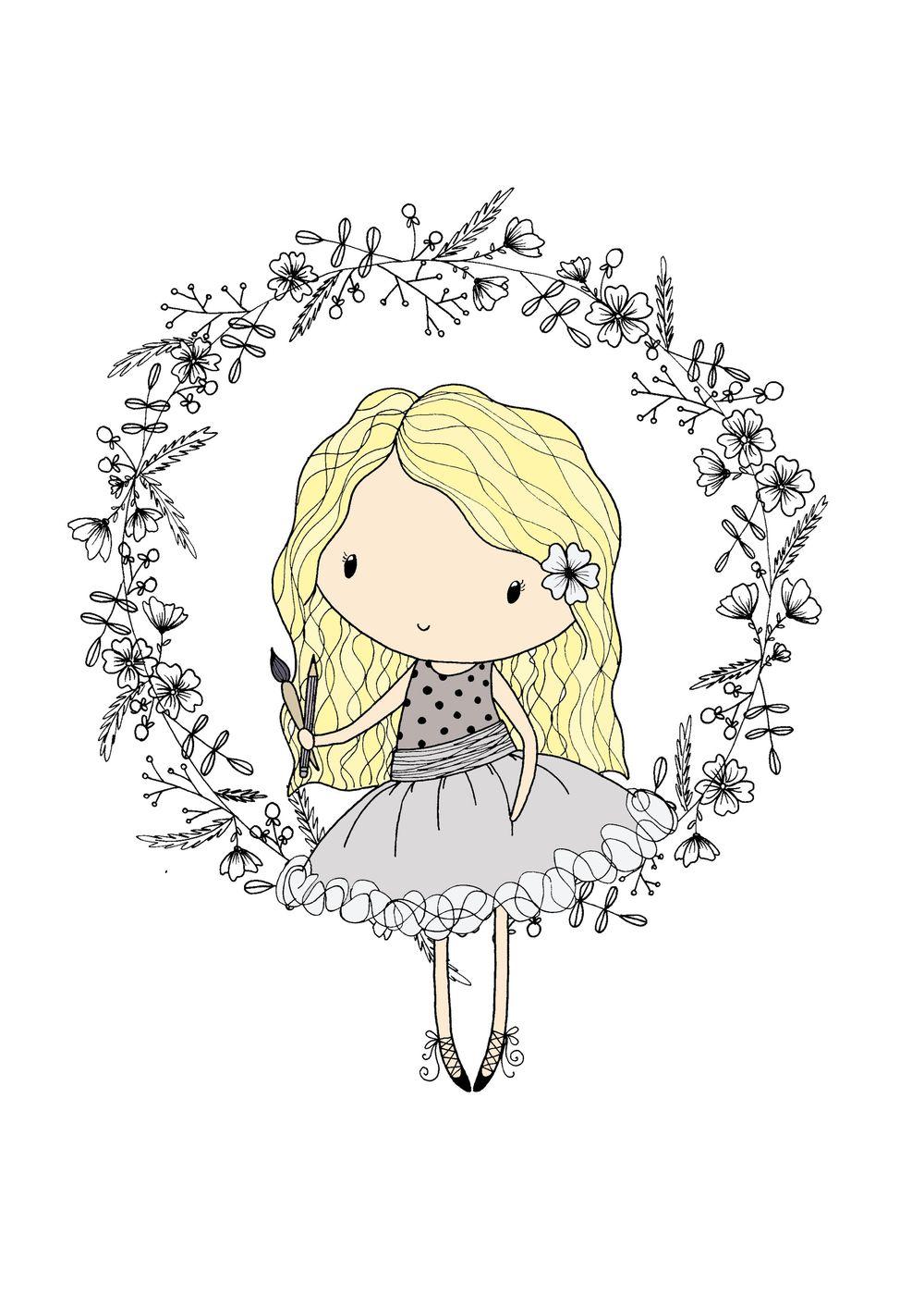 flower and leaf doodles - image 1 - student project