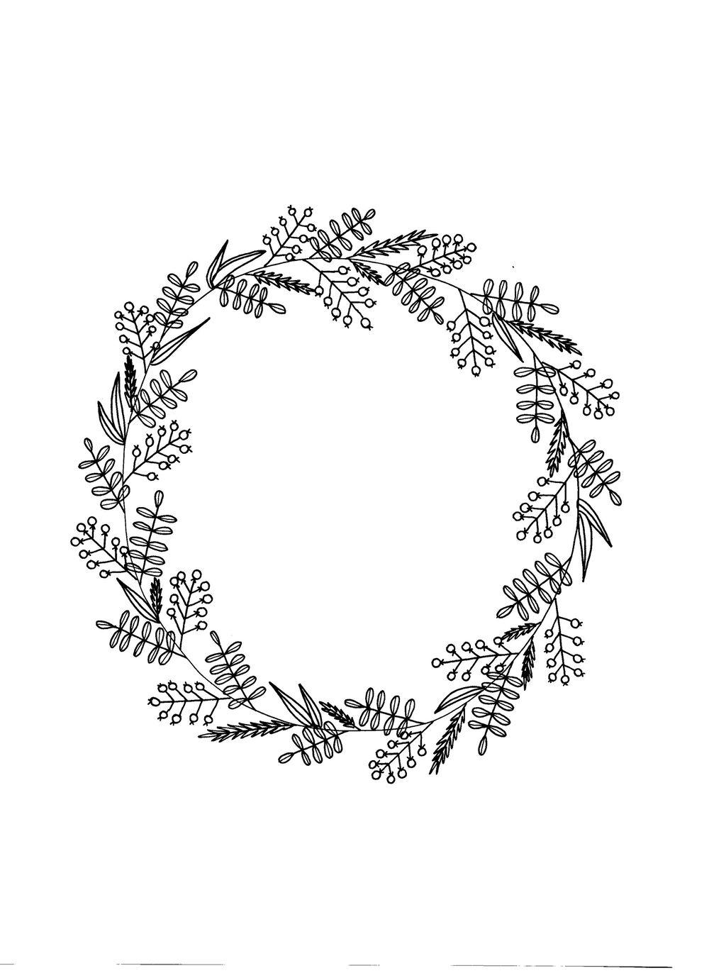 flower and leaf doodles - image 4 - student project