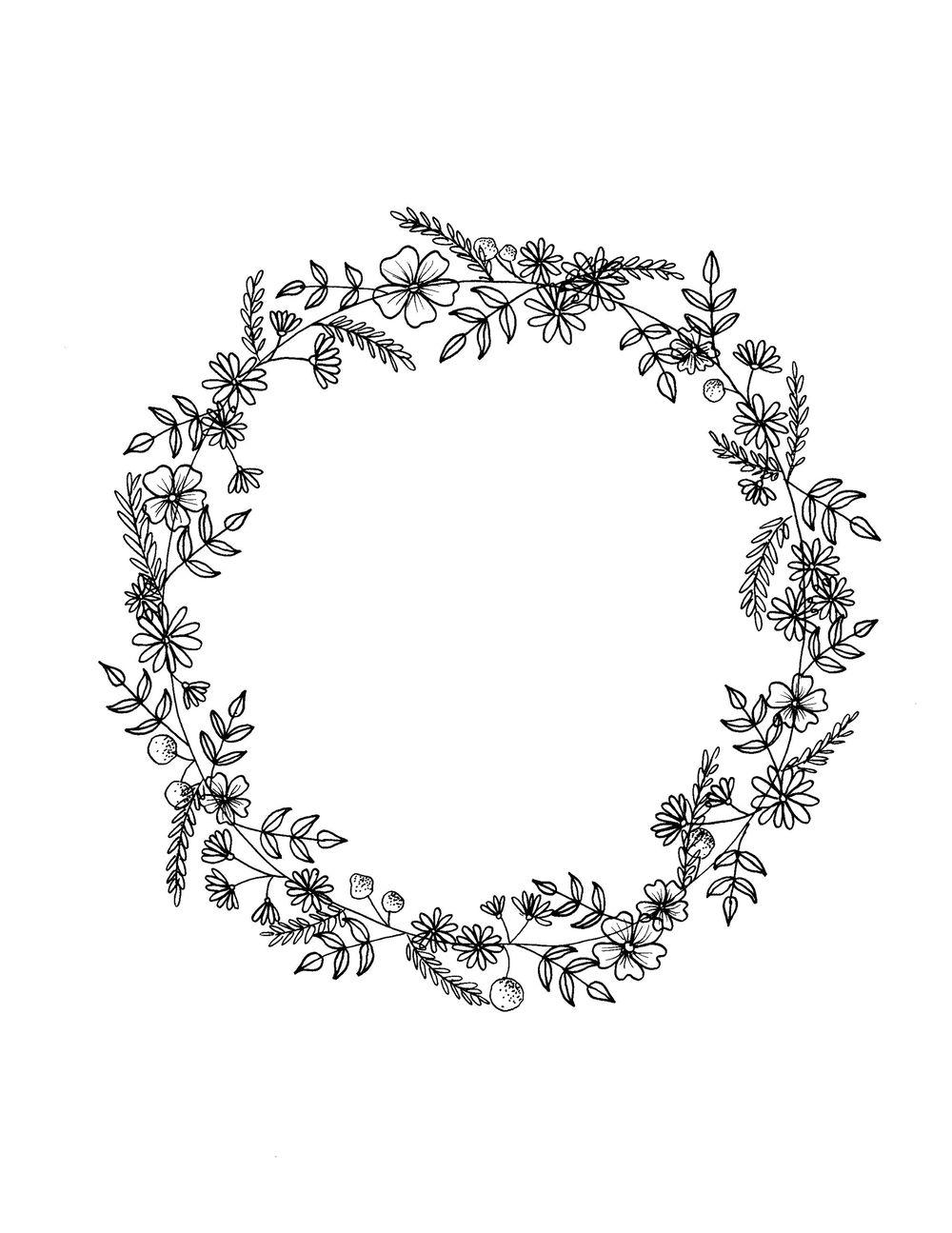flower and leaf doodles - image 3 - student project