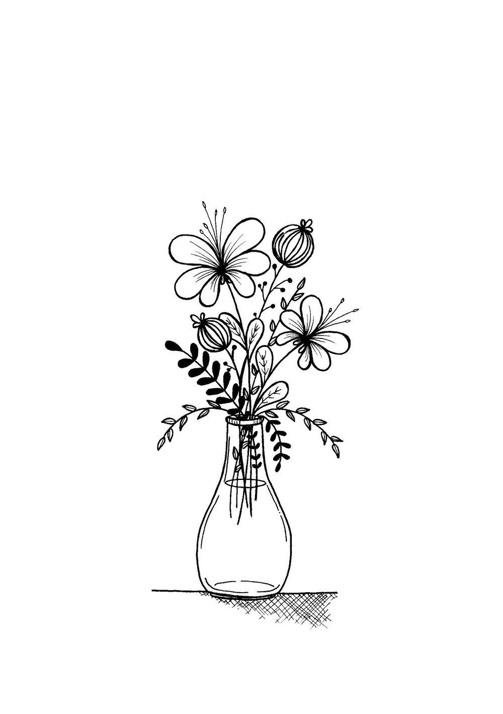 flower and leaf doodles - image 2 - student project