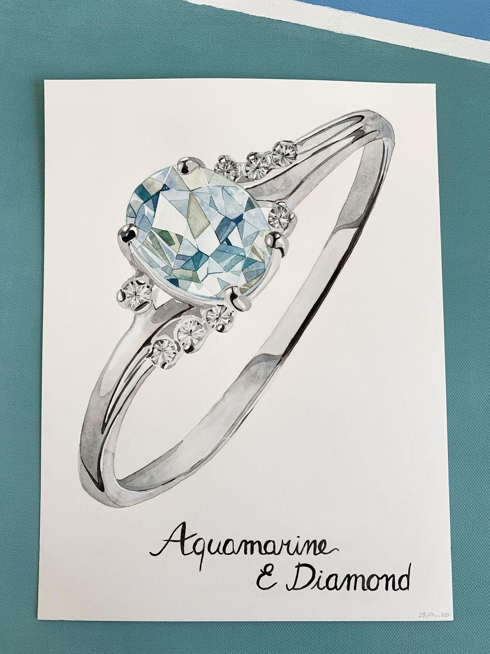 Aquamarine and diamond - image 1 - student project