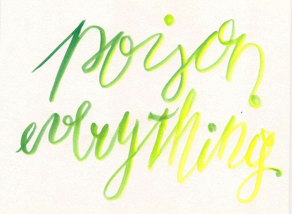 Brush Pen lettering - image 3 - student project