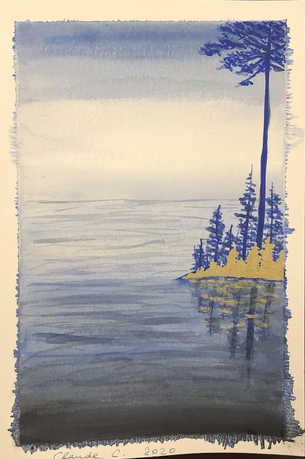 Three watercolor landscapes - image 1 - student project