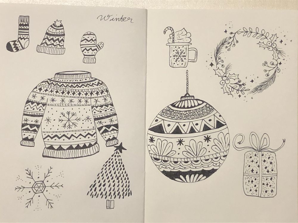 Winter Doodles! - image 1 - student project