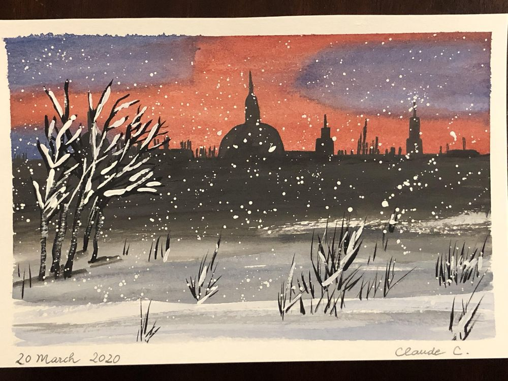 Watercolor Winter Nights - image 1 - student project