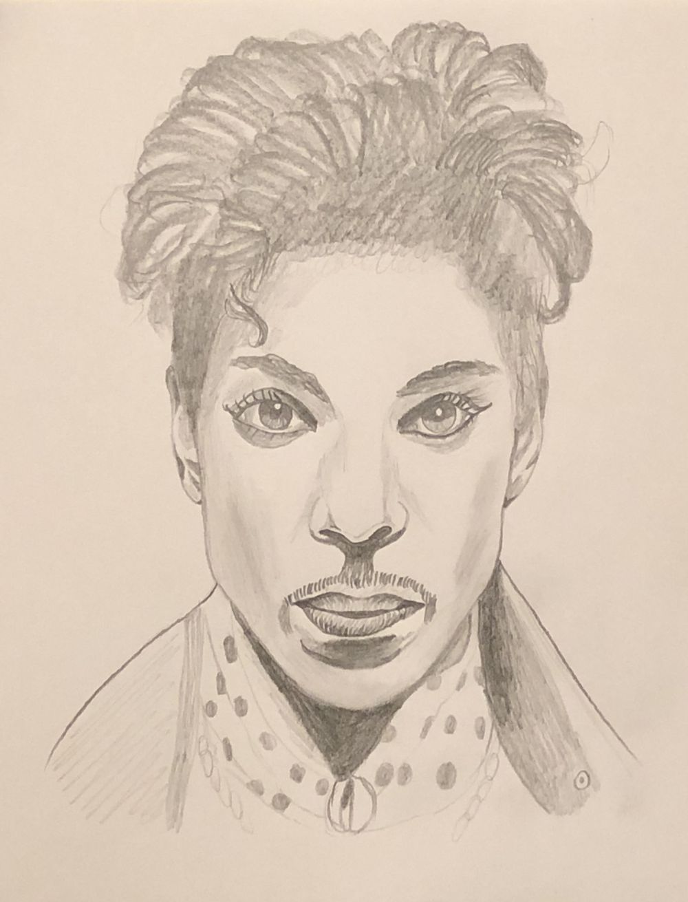 Prince pencil drawing - image 1 - student project