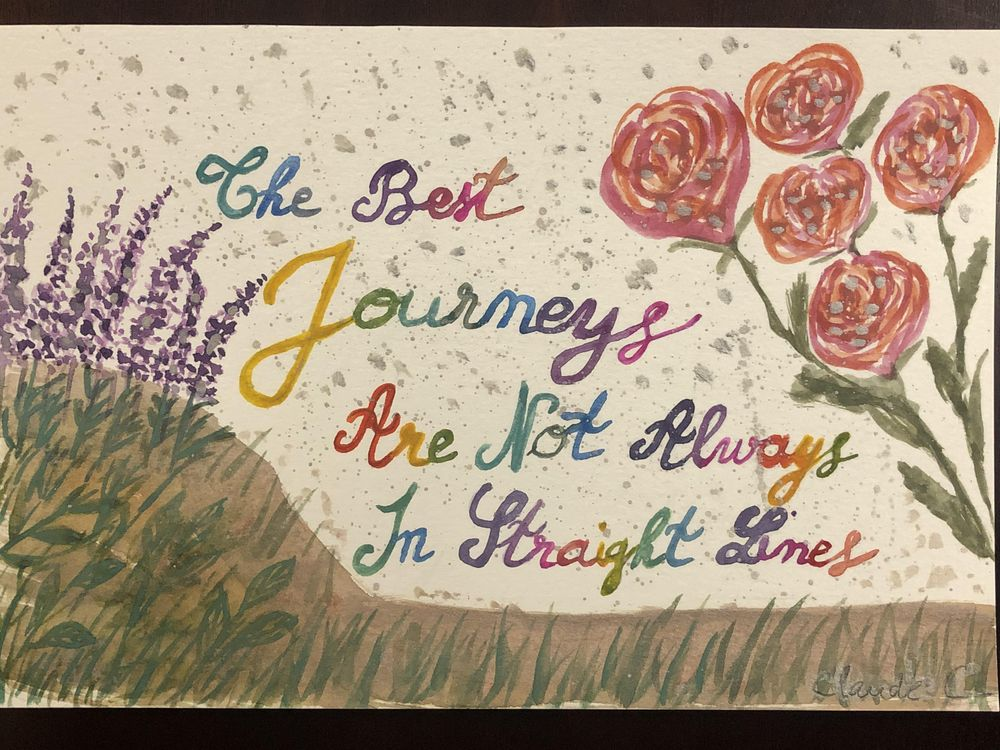 Playing with florals and colorful brush lettering - image 1 - student project