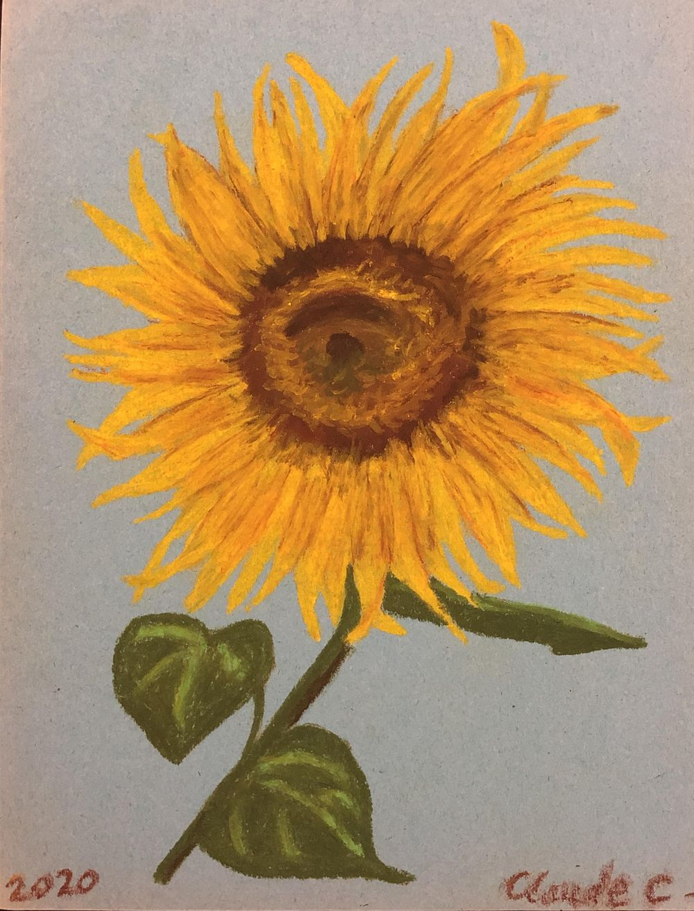 Oil Pastel Sunflower - image 1 - student project