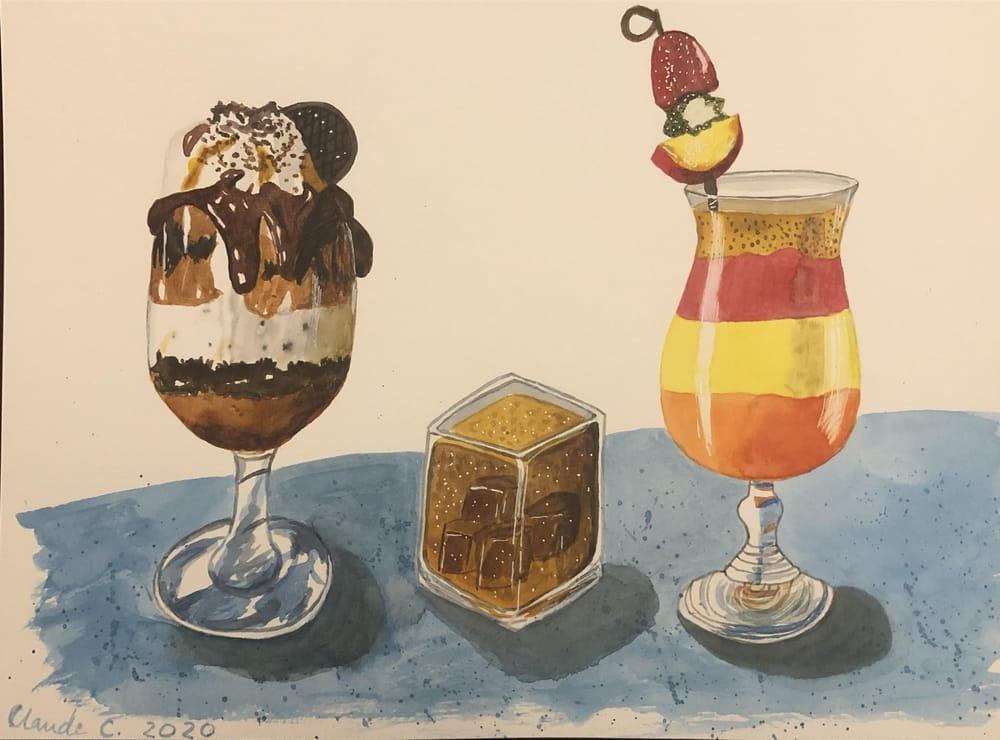 Food illustration: three appetizing drinks! - image 1 - student project