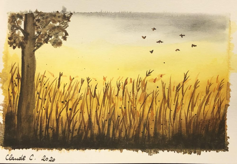 Three watercolor landscapes - image 2 - student project
