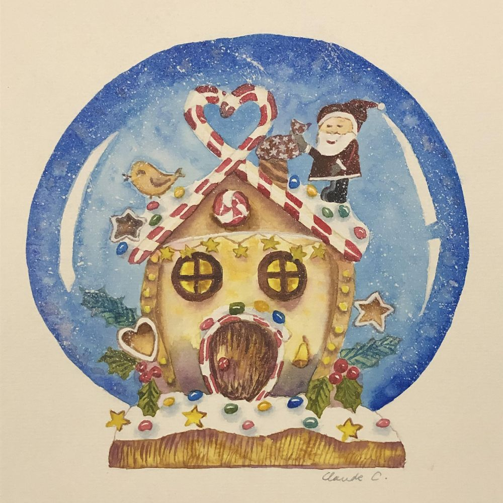 Gingerbread House in a Snow Globe! - image 1 - student project