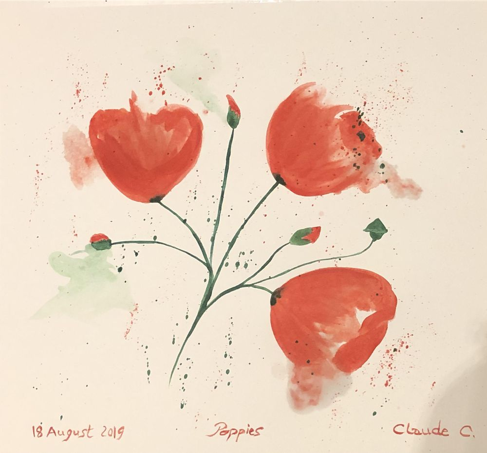 Abstract Poppies - image 1 - student project