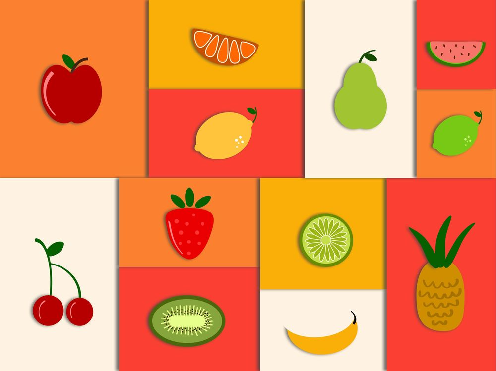 Simple Shapes Fruit Scene - image 1 - student project