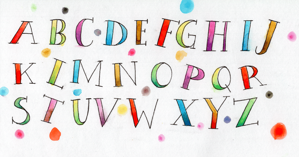 """Inspired from the Class """"Pencil ABCs & Watercolor Word"""" - image 2 - student project"""