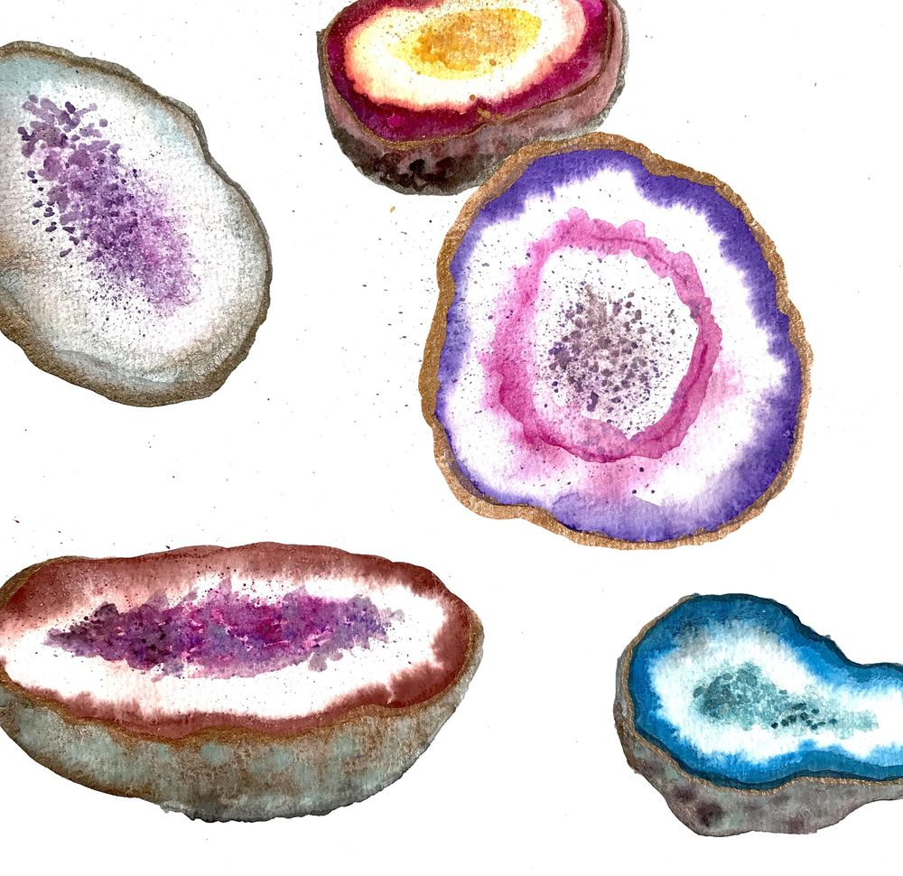 Geodes-Lindsey Starr @artisticisle.watercolor - image 2 - student project