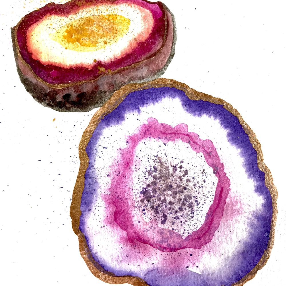 Geodes-Lindsey Starr @artisticisle.watercolor - image 1 - student project