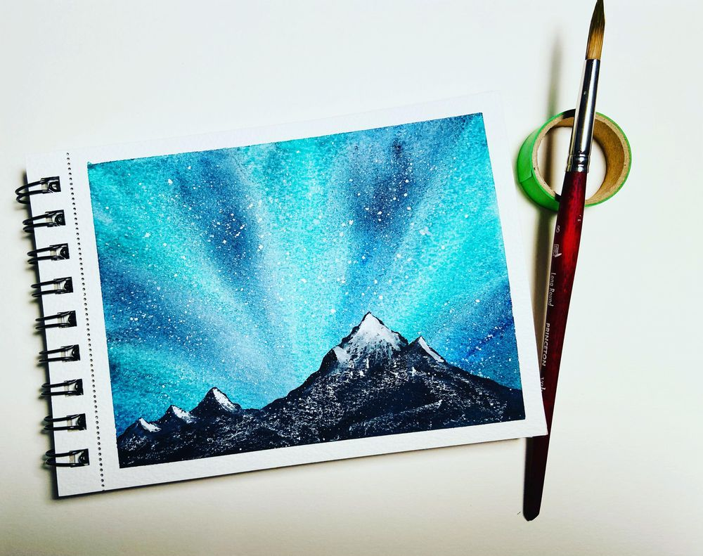 Northern Lights with Trees! - image 1 - student project