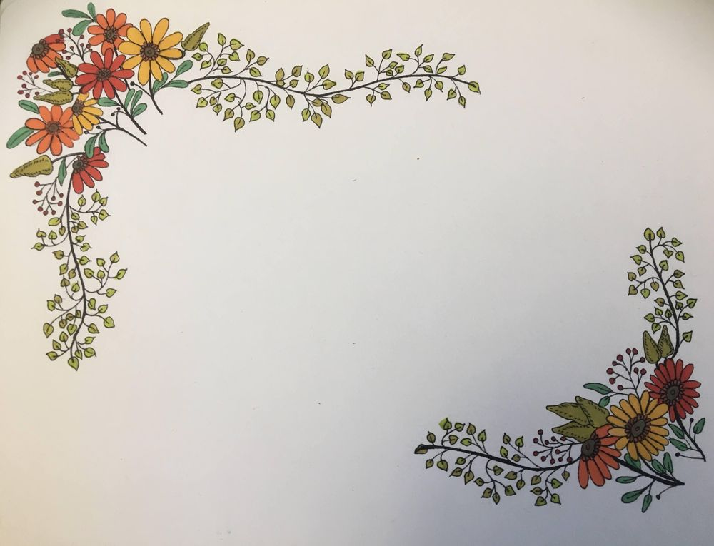 Floral Frame and Wreath - image 2 - student project