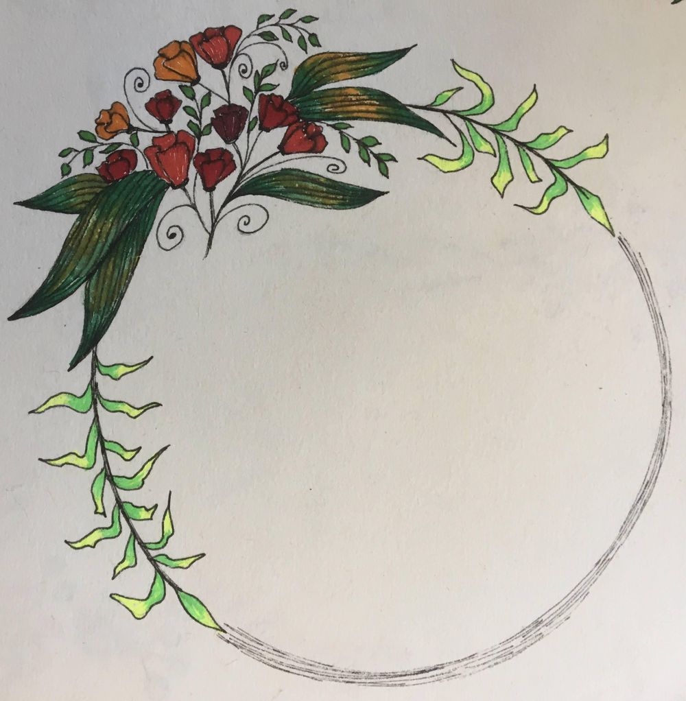 Floral Frame and Wreath - image 1 - student project