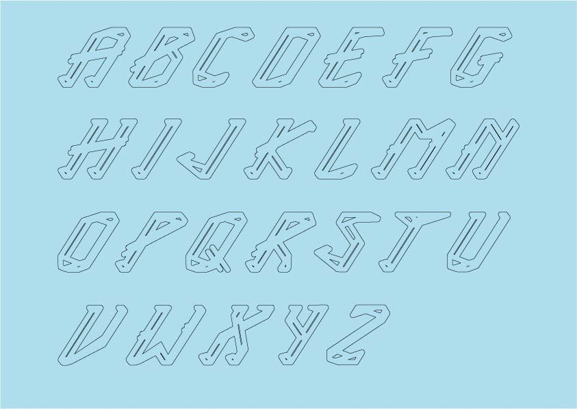 ICE TYPEFACE - image 8 - student project