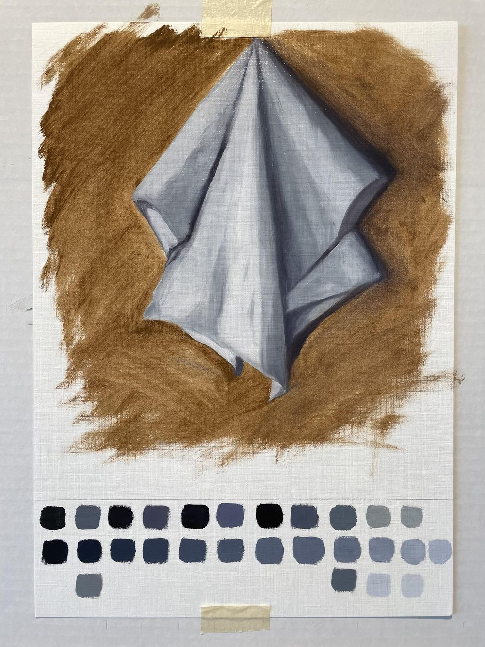 Value study- white cloth - image 1 - student project