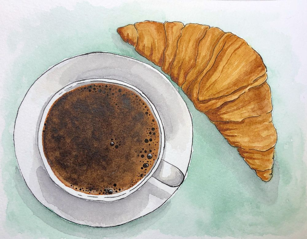 Coffee and croissant - image 1 - student project