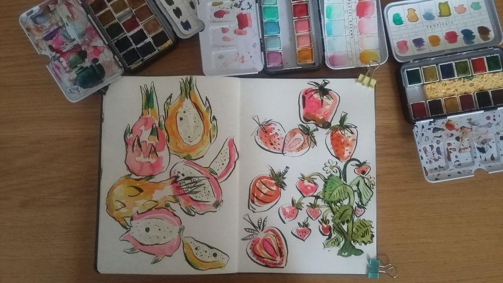 Sketchbook Practice : Create Freely with Ink and Watercolor - image 2 - student project