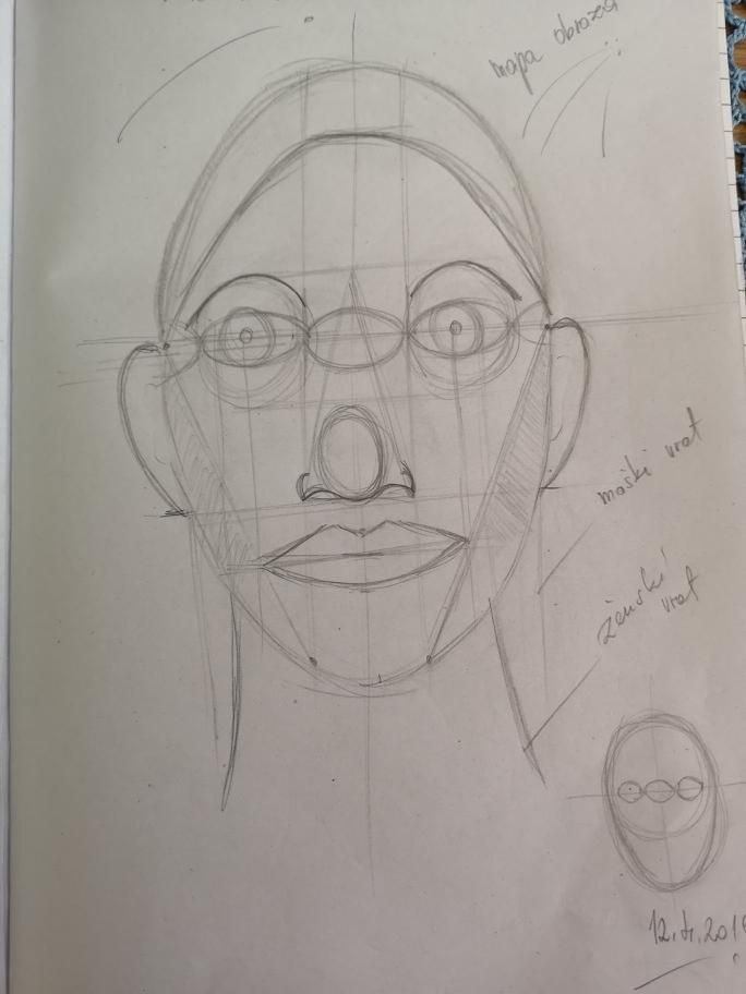 Kako narisati obraz - image 1 - student project