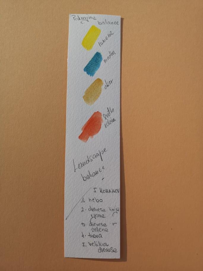 Pokrajina / balans - image 1 - student project