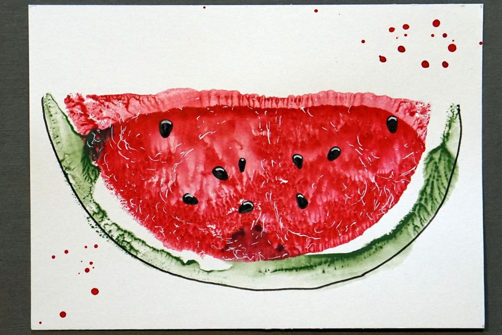 Water-color-water-melon - image 2 - student project