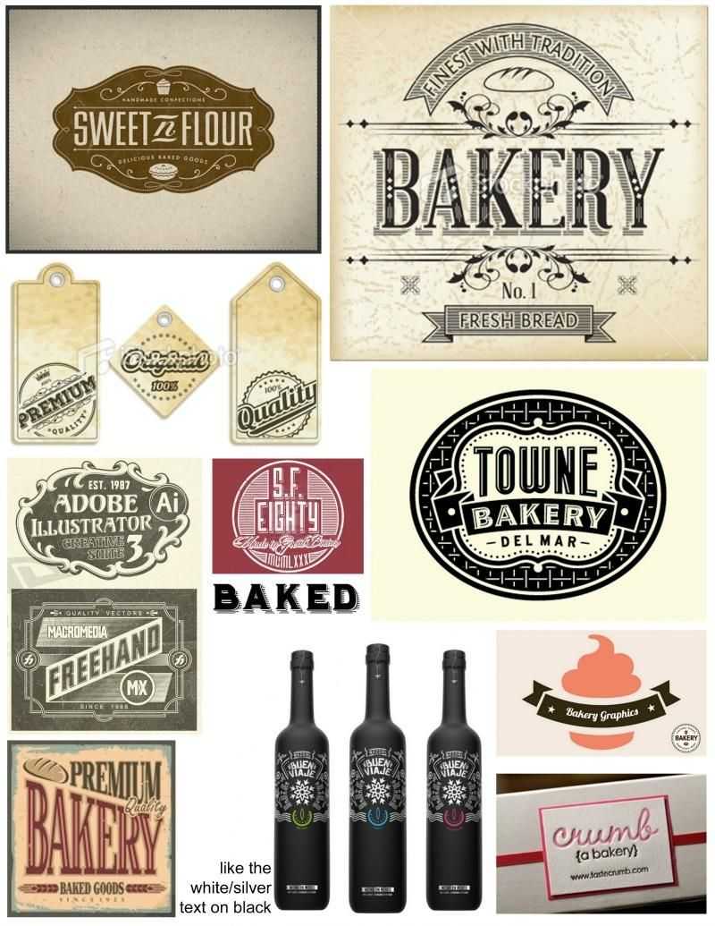 Baked Cakes vintage label / tags - image 1 - student project