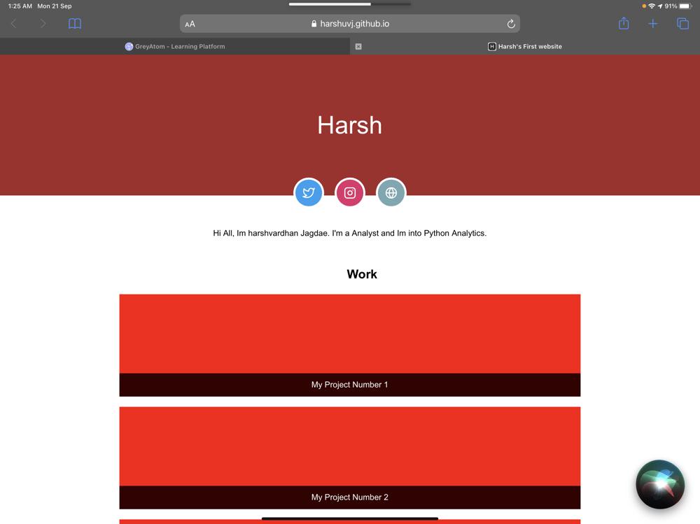 Harshavardhan - image 1 - student project
