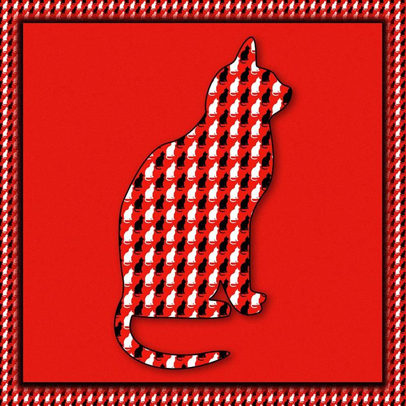 Cats on red - image 3 - student project