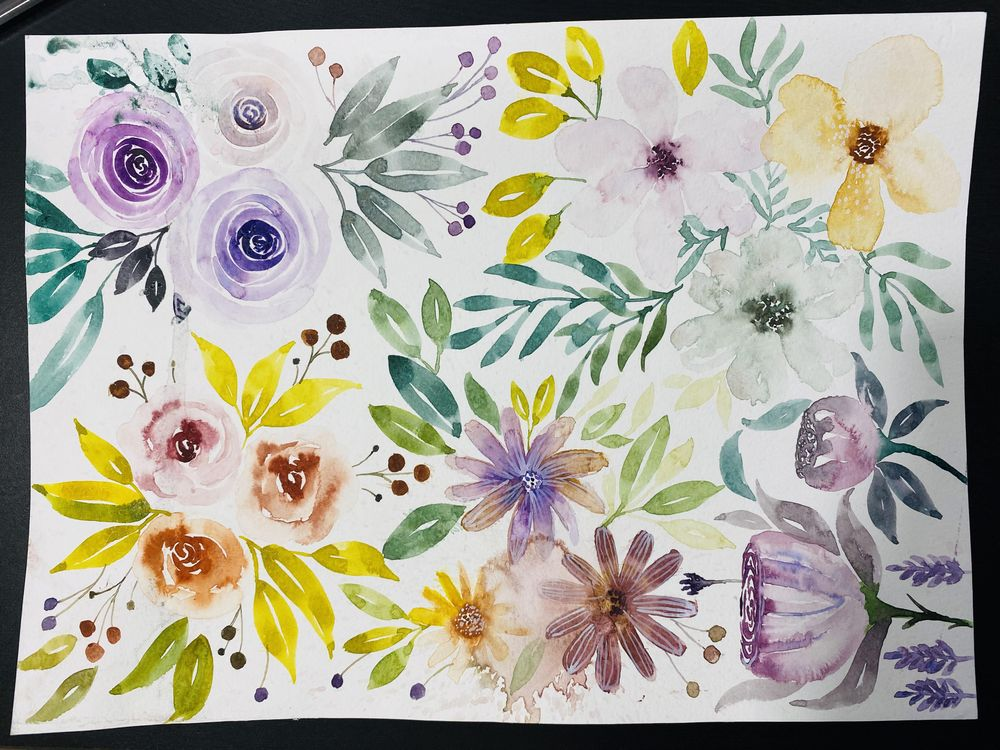Watercolor floral project - image 1 - student project